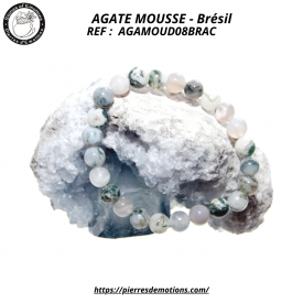 AGATE MOUSSE - Bracelet...