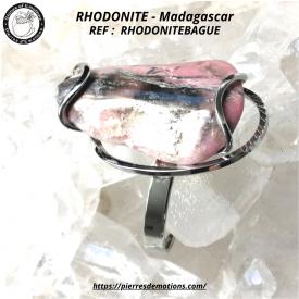 RHODONITE - Bague Réglable...