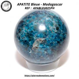 APATITE BLEUE - Sphère de...