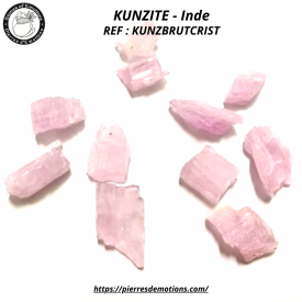 KUNZITE - Cristal brut de 1...