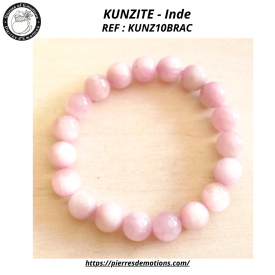 KUNZITE -  Bracelet perles...