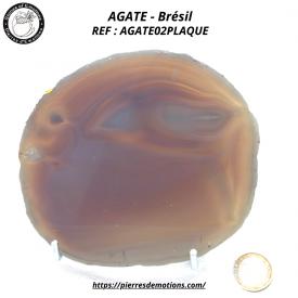 AGATE GRISE - belle plaque...