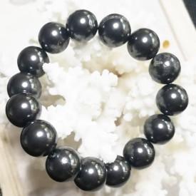 SHUNGITE -  Bracelet perles...