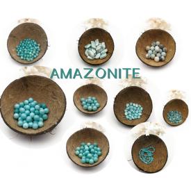 AMAZONITE - Perles percées...