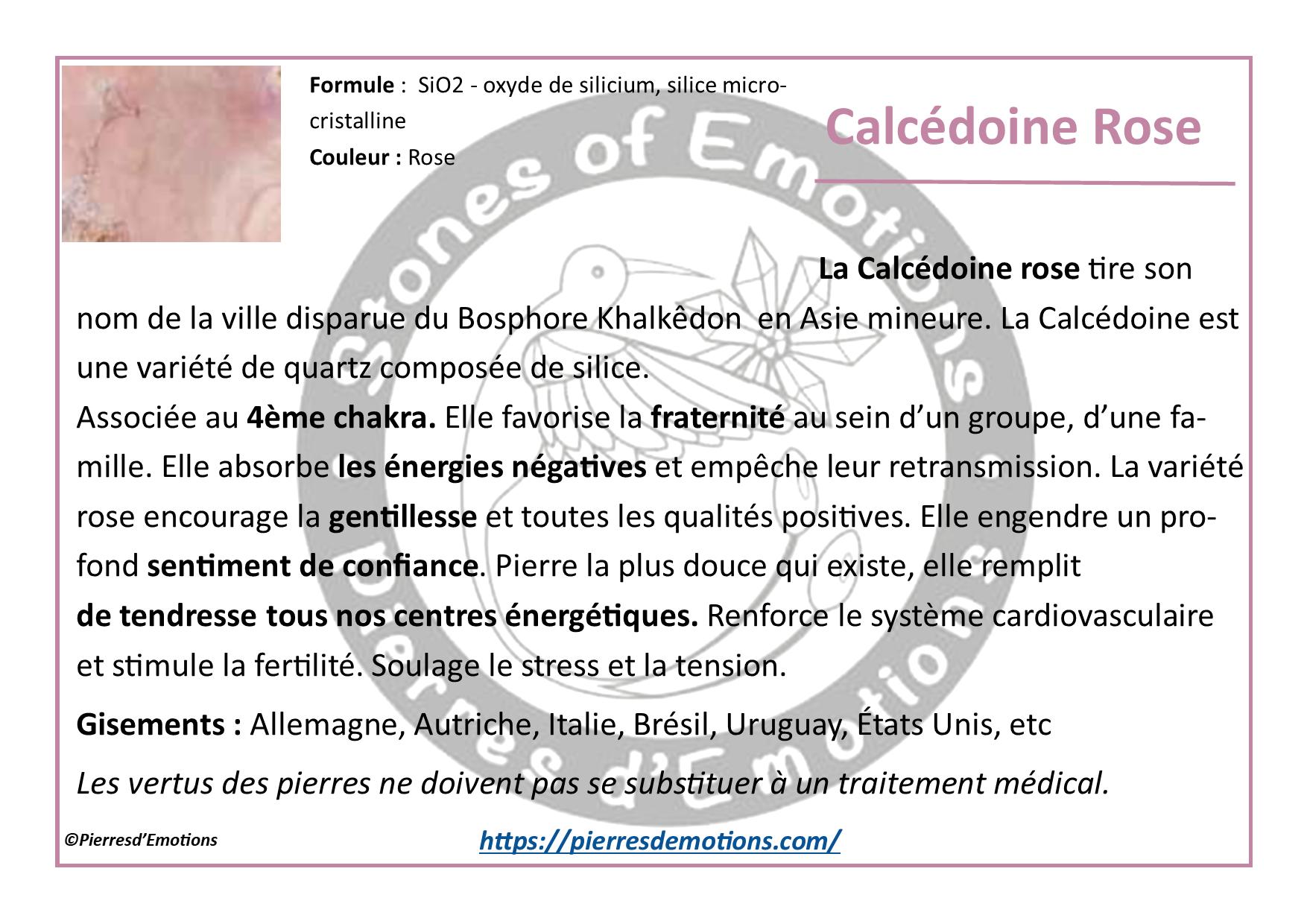 CalcédoineRose