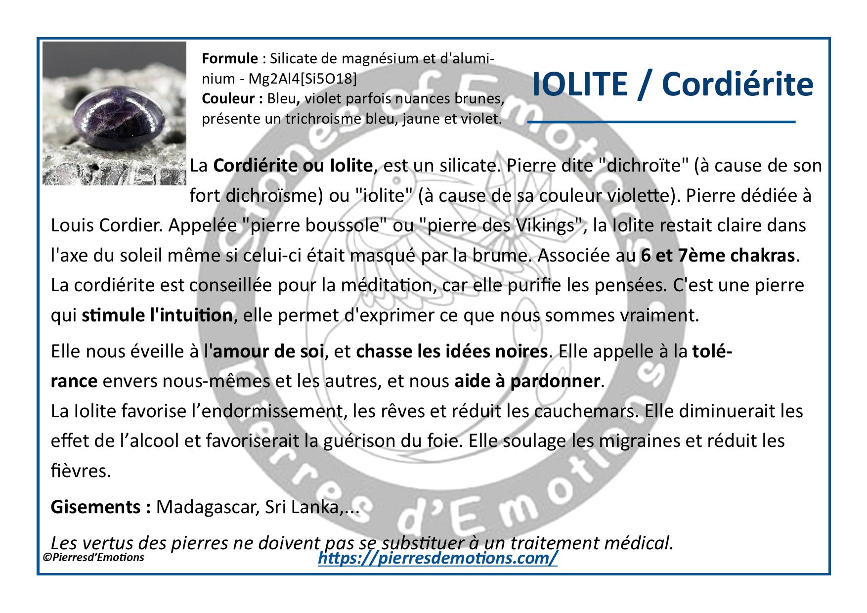 Iolite-Cordierite