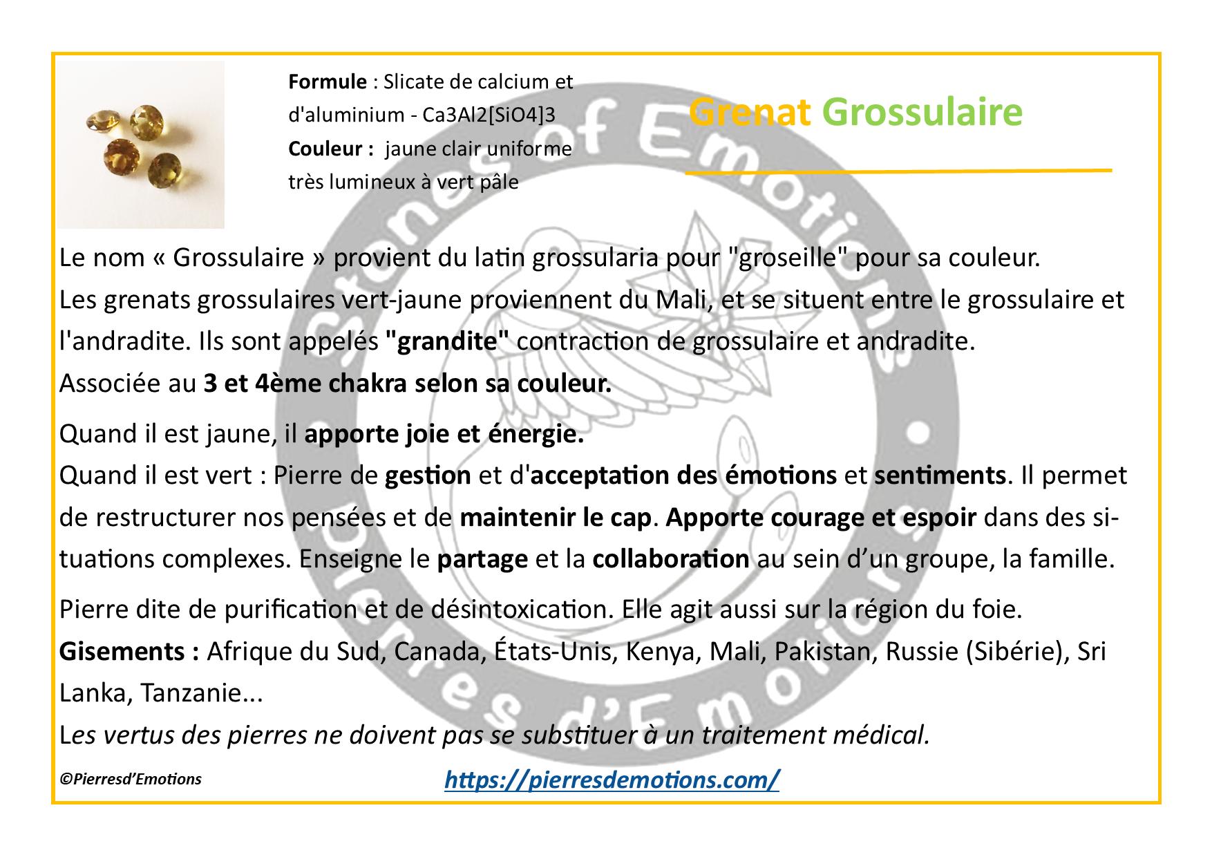 Grenat Grossulaire